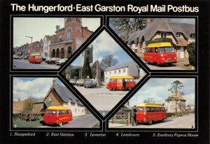 Postcard 1970s Hungerford to East Garston Royal Mail Postbus Commer Dodge 34X