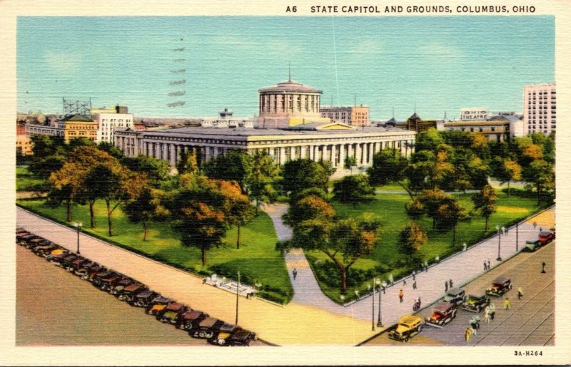 Ohio Columbus State Capitol and Grounds 1940 Curteich