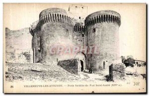 Old Postcard Villeneuve Avignon fortified gate of the Fort Saint-André