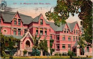 St. Margaret's Hall Boise Idaho ID c1911 Postcard D60 *As Is