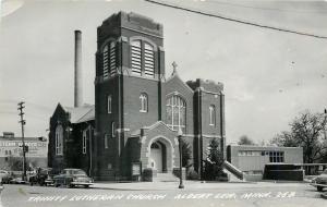 Albert Lea Trinity Lutheran Church~Chocolate Cream Coffee Billboard 1950s RPPC