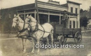Fostoria, Ohio USA ? Horse Drawn writing on back very light wear, light print...