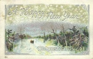 New Years Eve 1913 light crease, postal used 1913