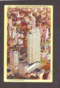 NY Rockefeller Center Cntr New York City Postcard NYC Linen PC Roxy Theatre