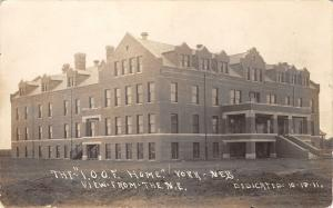 York Nebraska~IOOF Home~Odd Fellows~Big Doin's in Town Today~Oct 18~1911 RPPC