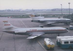 Iberia Caravelle EC-ATX 1968 at Heathrow Airport Limited Edition of 300 Postcard