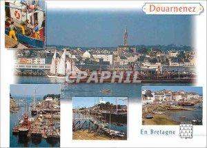 Postcard Modern Brittany Picturesque Douanenez (Finistere) The Rasmeur port C...