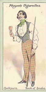 Player Vintage Cigarette Card Characters From Thackeray 1913 No 4 Cocksure Th...