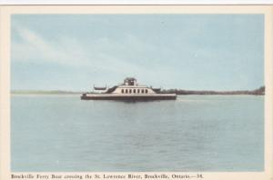Ferry Boat , BROCKVILLE , Ontario , Canada , 1930-40s