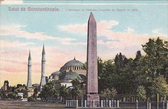L'Obelisque de Theodose Constantinople Turkey