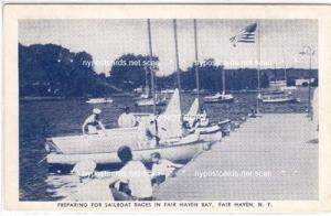 Preparing for Sailboat Races, Fair Haven NY