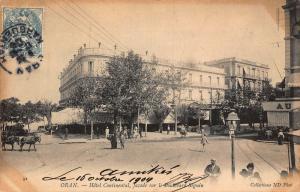 Algeria Oran Hotel Continental Boulevard Seguin Street Postcard