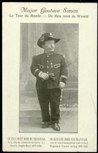 BOER WAR, Major Gustave Simon, Smallest Boer (1902)