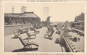 New Jersey Atlantic City The Seaside Hotel Sun Porch 1931