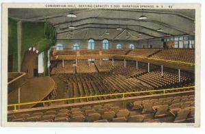 Interior of Convention Hall, Seats 5000, Saratoga Springs, New York, 1930 Linen