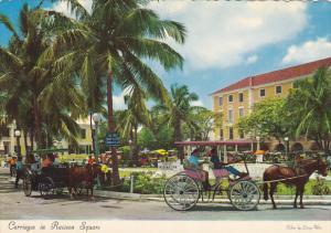 Bahamas Nassau Carriages Driving Through Rawson Square