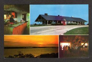 ME Log Cabin Restaurant Bailey Island Maine Postcard Carte Postale PC