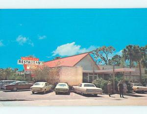 Unused Pre-1980 OLD CARS & MEL-O-DEE RESTAURANT Sarasota Florida FL p6843