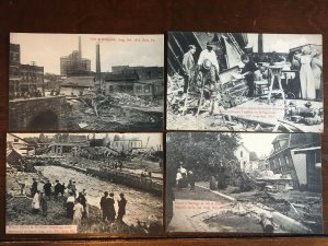 Lot of 24 Postcards Flood Aftermath, Erie, PA Unposted No Duplicates