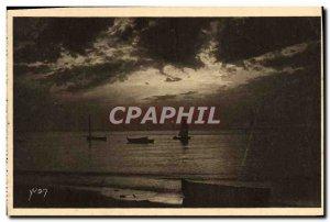 Old Postcard Basin D & # 39Arcachon Last Reflections