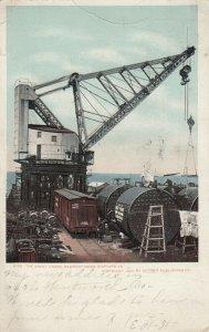 NEWPORT NEWS , Virginia , 1911 ; The Great Crane, Shipyard