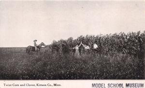 KITTSON COUNTY MINNESOTA TWIXT CORN & CLOVER~MODEL SCHOOL MUSEUM POSTCARD 1918