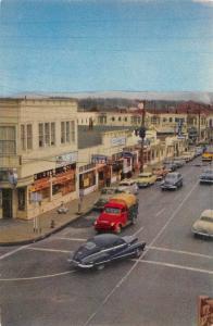 Crescent City California Redwood Highway Street Scene Vintage Postcard J70320
