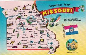 Missouri Greetings From Missouri State Bird Bluebird State Flower Hawthorne