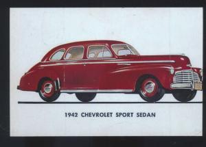 1942 CHEVROLET SPORT SEDAN CAR DEALER ADVERTISING POSTCARD '42 CHEVY