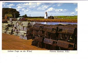 Lighthouse, Lobster Traps on the Wharf, Victoria Harbour, Prince Edward Island