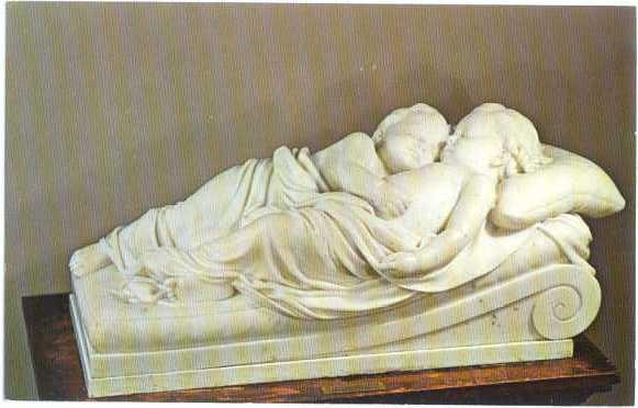 Sleeping Children Marble Sculpture Bennington Museum Vermont