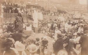 Arabic Auction Arab Market Public Sale Traders Antique Real Photo Postcard
