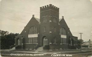 Congregational Church 1922 Franklin Nebraska RPPC real photo postcard 6838