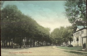 Westford MA The Common c1910 Postcard