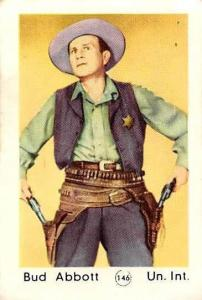Movie Actor Bud Abbott Un. Int. cowboy, revolvers, pistols, western