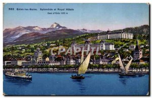 Evian les Bians Postcard splendid Ancient and Royal Hotels