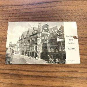 c1930 Postcard: Grosvenor Hotel – Chester, England – Tel. # 24024 - VINTAGE - PC