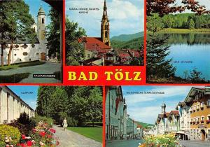 Bad Toelz multiviews Maria Himmelfahrts Kirche Kalvarienberg Markt Kurpark