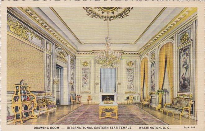 Washington D C Drawing Room International Eastern Star Temple Curteich