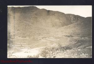 RPPC SMUGGLERS NOTCH VERMONT LODGE PROPERTY AERIAL VIEW REAL PHOTO POSTCARD