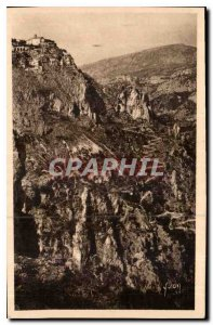 Postcard Old French Riviera Gorges du Loup the picturesque village of Gourdon...