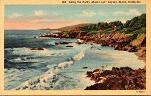 California Scene Along The Rocky Shores Near Laguna Beach Curteich