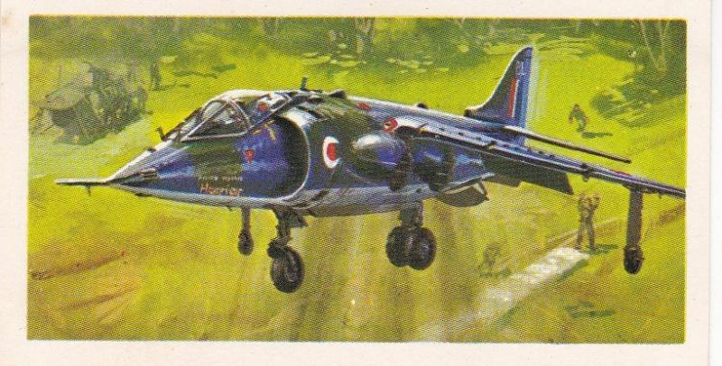 Trade Card Brooke Bond Tea History of Aviation black back reprint No 47 Harrier