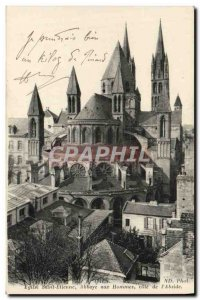 Old Postcard Caen Saint Etienne abbey men