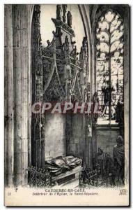 Old Postcard Caudebec-en-Caux of the Interieur & # 39eglise the Holy Sepulcher