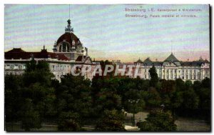 Postcard Strassburg Old Imperial Palace and Ministry