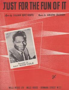 Just For The Fun Of It Nat King Cole 1950s Sheet Music