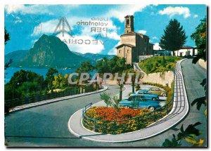 Modern Postcard The Chiesa di Lugano Castagnella con Salvatore S II