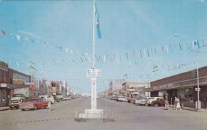 main Street , DAWSON CREEK , B.C. , Canada , Alaska Hiway Mile 0 , 40-60s