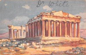 Le Parthenon Athens Greece, Grece Writing on back